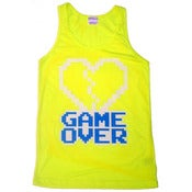 Image of 8 Bit Apparel Game Over Tank in Neon Yellow