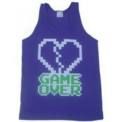 Image of 8 Bit Apparel Game Over Tank in Royal Purple