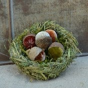 Image of Velvet Plush Acorn Grass Nest 
