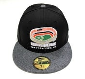 "Image of SAN FRANCISCO GIANTS ""CANDLESTICK PARK"" NEW ERA FITTED (BLACK/FLANNEL)"