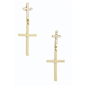 Image of Duo Cross Earrings