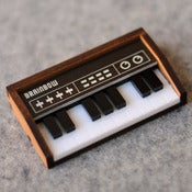 Image of Wooden Keyboard Brooch / Necklace