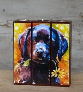 Image of 'Just Picked' Tealight Triptych