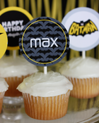 Image of Batman printable Cupcake Toppers- Batman Superhero Collection