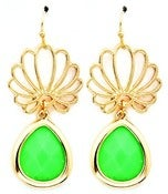 Image of Green Drop Earrings