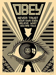 Image of Obey - EYE - Small Screenprint from Arkitip Magazine #51