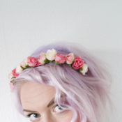 Image of Tea Rose Headband - Pinks