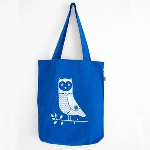Image of Bag Cotwm Tylluan - <em>Owl Cotton Bag</em>