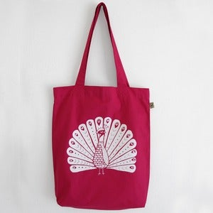 Image of Bag Cotwm Paun - <em>Peacock Cotton Bag</em>