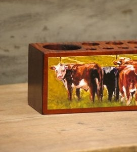 Image of 'Grazing the Fenceline' Desk Caddy