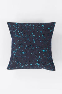 Image of Denim Granit Cushion / turq+black