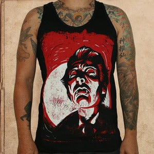Image of Dracula tank top - discharge inks - unisex