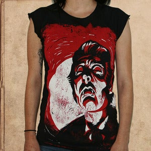 Image of Dracula - girls raglan top - discharge inks