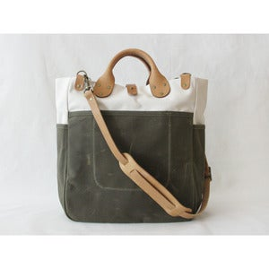 Image of Garrison Bag (Natural/Olive)