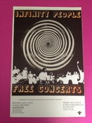 Image of INFINITY PEOPLE - FREE CONCERTS - XEROX AND SPRAY-PAINT POSTER