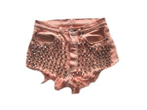 Image of D.Fame Peach Cone Levi's Head Shorts