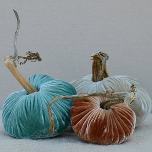 Image of Velvet Plush Pumpkin Cozy Nest Trio