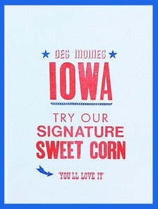 Image of STATE FAIR SPECIAL! Des Moines IA Sweet Corn Print