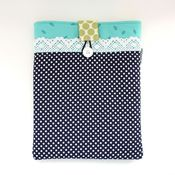 Image of ipad case - navy dots 