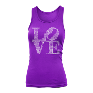 Image of Women's Aphillyated® LOVE Tank (Purple)