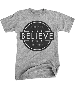 Image of Light Gray Believe Tee