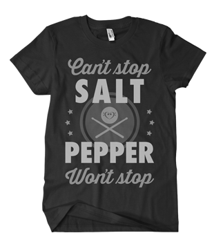 Image of Black Salt & Pepper Collaboration Tee