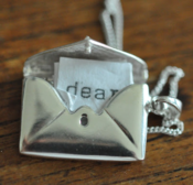 Image of Solid Sterling Silver Love Letter Locket