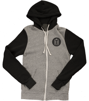 Image of Gray & Black Unisex Signature Hoodie
