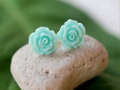 Image of Small Rose Stud Earrings - EFS002