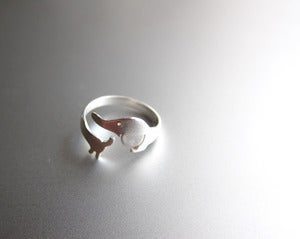 Image of My Little Dog Ring - Handmade Sterling Silver Ring