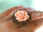 Image of Rose Bud Antique Brass Ring - Other Colors Available - RI004