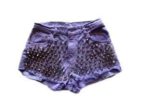 Image of Women's D.Fame Levi's Lavender Cone Head Shorts