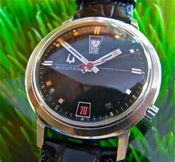 Image of VINTAGE BULOVA ACCUTRON RED/BLACK UP/DOWN 218 - SOLD!
