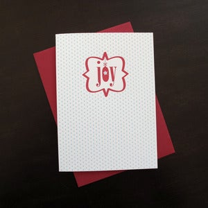 Image of 1517B - joyous greetings letterpress holiday card - set of 6