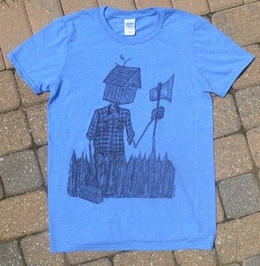 Image of Reluctant Woodsman Shirt - Heather Royal Blue