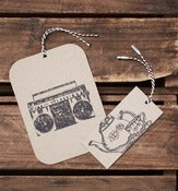 Image of Handprinted Gift Tag Large