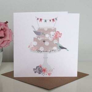 Image of 'Mr & Mrs' Wedding Cake Card