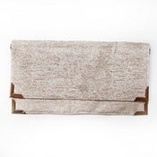 Image of Metallic Linen Fold Clutch