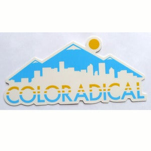 Image of Coloradical Colorado Skyline Sticker