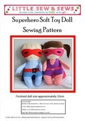 Image of PDF Sewing Pattern Superhero Soft Toy Doll - photo tutorial - e-file - BOY &amp; GIRL VARIATIONS
