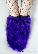 Image of Thigh high fluffies superpoof purple