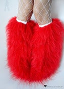 Image of Glitter fluffies uv red