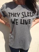 Image of INVADA 'they sleep we live' GREY T-SHIRT front & back print