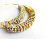 Image of Gold/Clear 1937 Bling Hoops