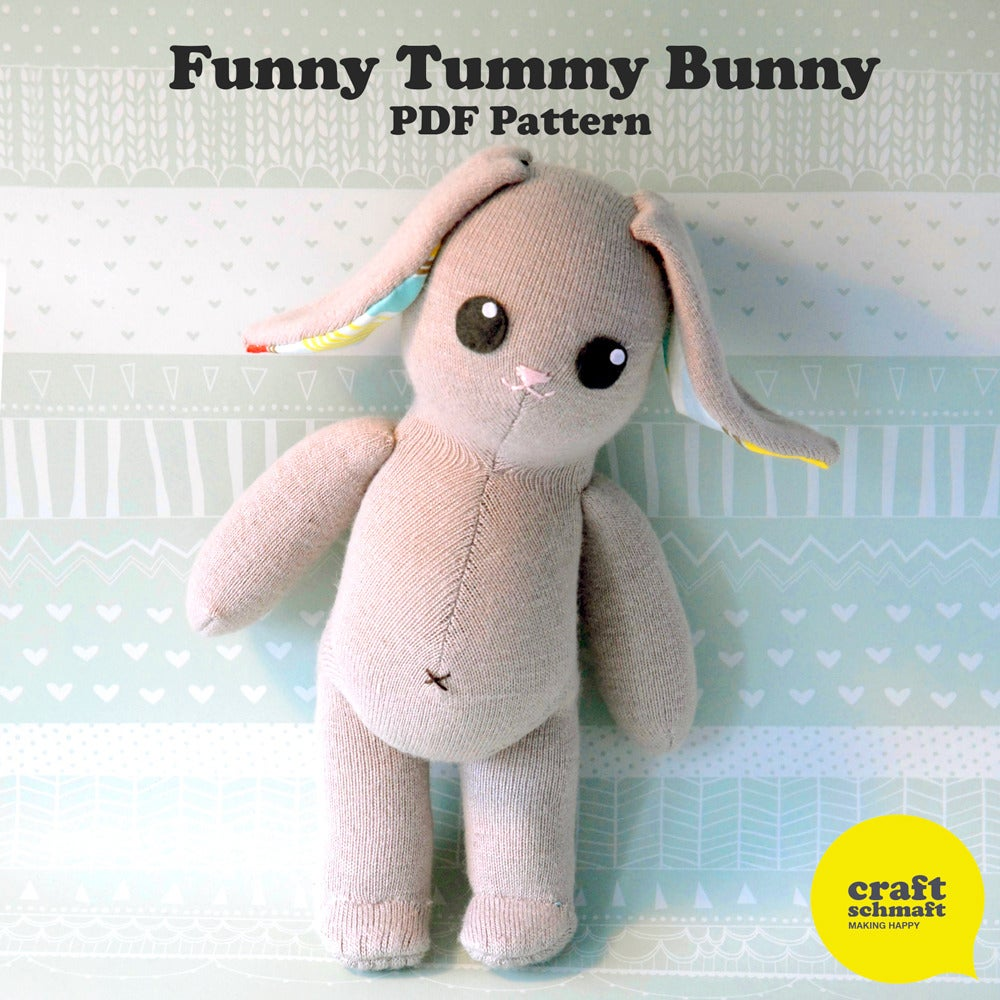 Image of Funny Tummy Bunny Pattern (PDF)