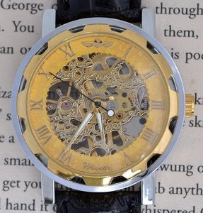Image of Golden Wind-Up Wrist Watch