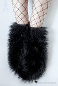 Image of Thigh high fluffies superpoof black