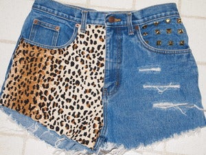 Image of High Waisted Leopard Shorts