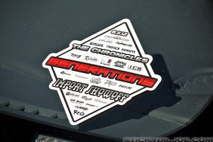 Image of GENERATIONS 2012 Limited Edition Decal **Limited Quantities**