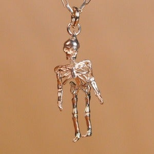 Image of Sterling silver skeleton pendant